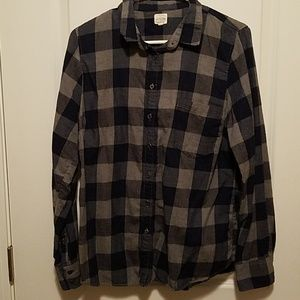 J. Crew blue and gray button down shirt- large